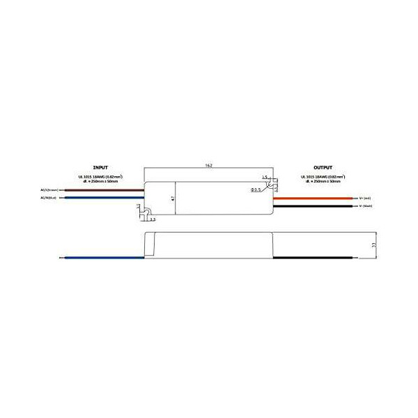 Alimentation LED DC 12V 60W IP67 étanche