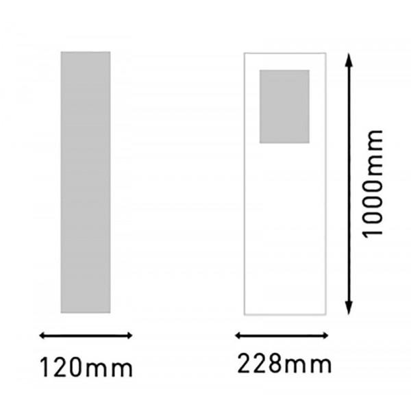 Borne lumineuse LED 100cm 6W EIFFEL étanche