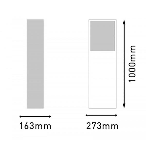 Borne lumineuse LED 100cm 20W GIZA étanche