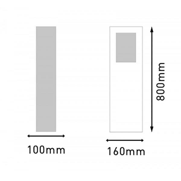 Borne lumineuse LED 80cm 6W KEOPS étanche