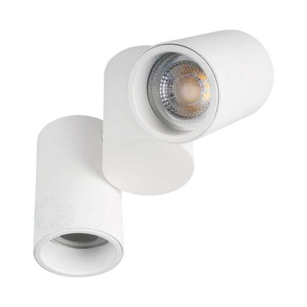 Plafonnier saillie pour 2 ampoules GU10 Blanc