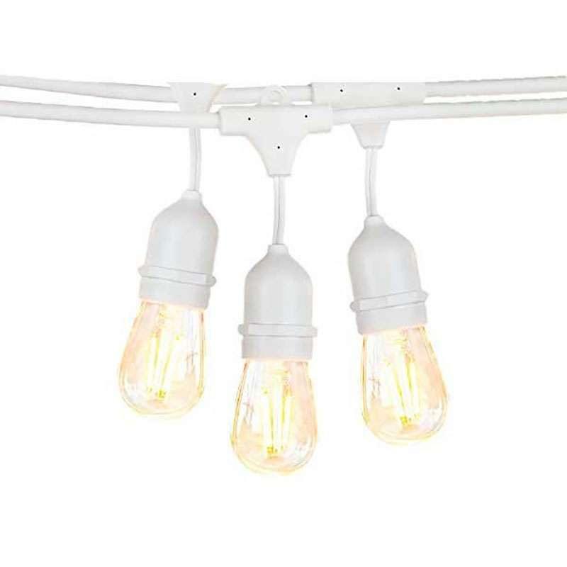 Guirlande Guinguette Blanche Suspendue IP65 6m pour 10 Ampoules E27