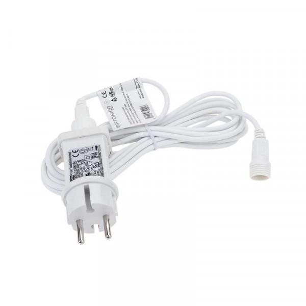 Guirlande Guinguette 20 ampoules filament 13m fil blanc