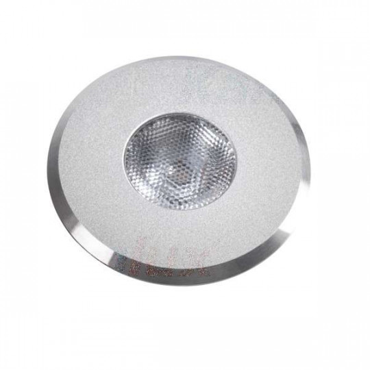 Downlight LED 1W rond ∅42mm Aluminium - Blanc Chaud 3000K
