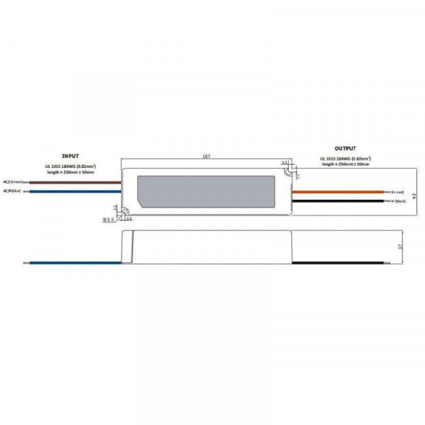 Alimentation LED DC 24V 100W étanche IP67