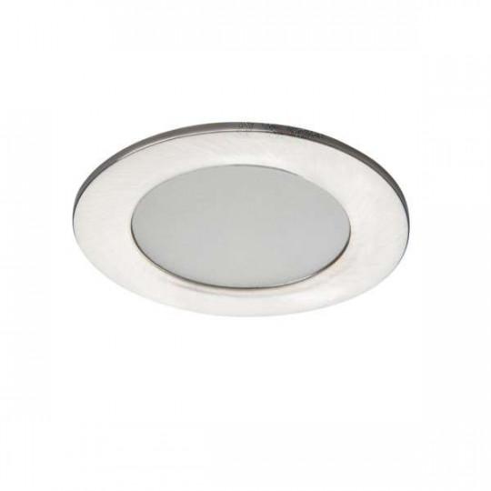 Downlight LED 4,5W étanche IP44 rond ∅83mm Nickel satiné - Blanc Naturel 4000K