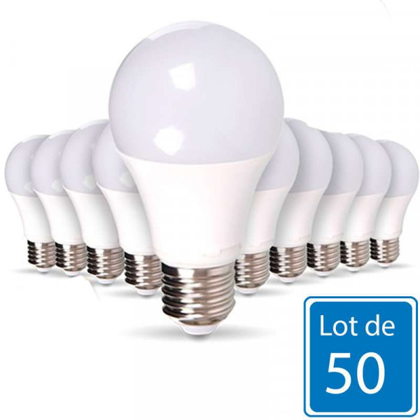 Lot de 50 Ampoules E27 12W A60 équivalent 60W