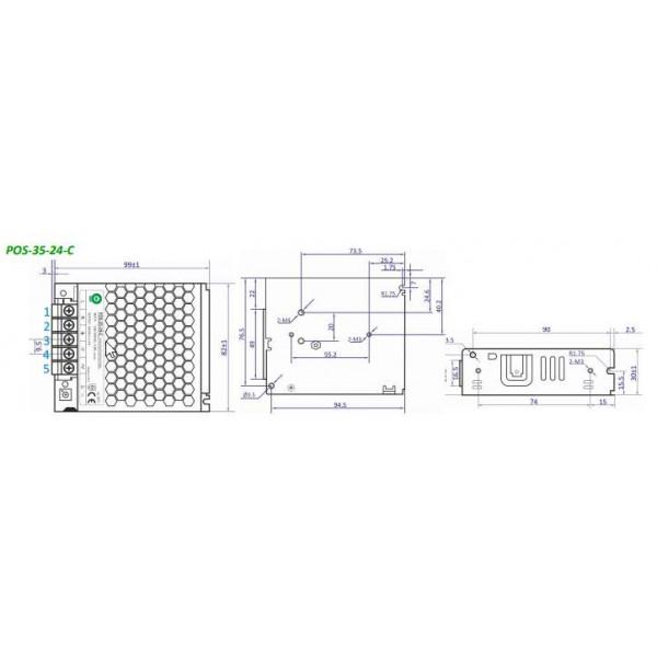 Alimentation à découpage LED 35W 24V pour LED