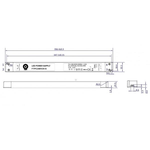 Alimentation LED 240W 24VDC 10A FTPC240V24-S IP20