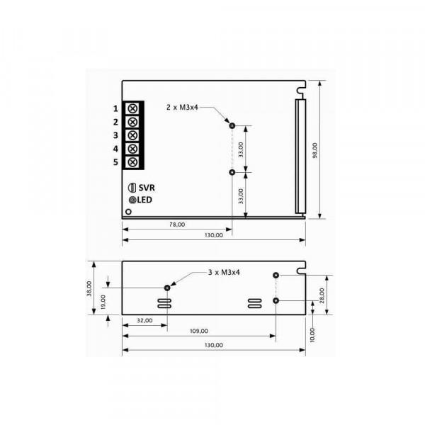 Alimentation à découpage LED 35W 12V pour LED