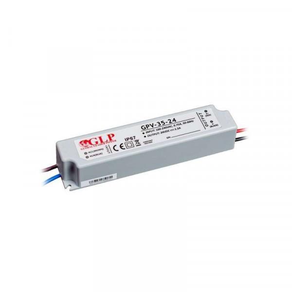 Alimentation LED DC 24V 35W IP67 étanche