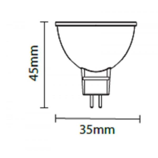 Ampoule LED GU5.3 3W MR11 35mm