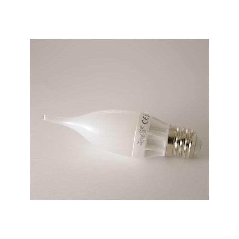 Ampoule LED E27 Flamme C30 coup de vent 5W 400lm