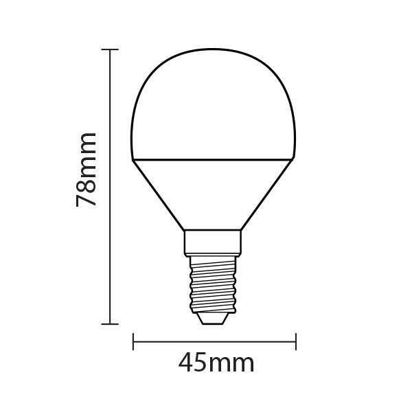 Ampoule LED E14 4W équivalent 30W V-TAC