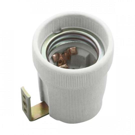 Douille E27 blanche thermoplastique