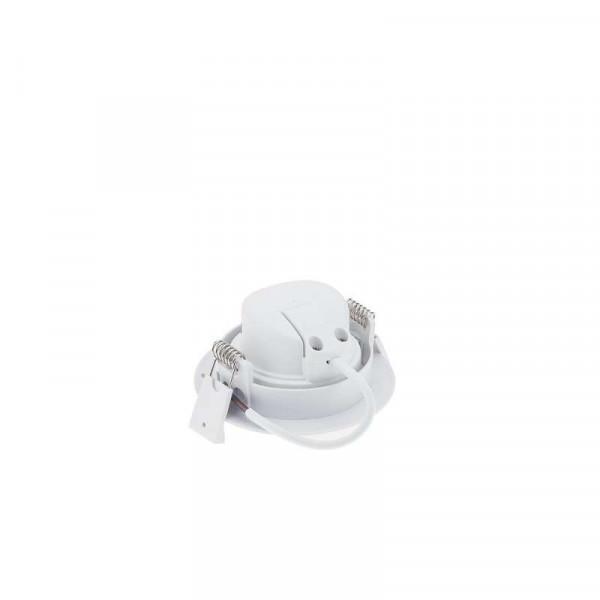 Plafonnier rond encastrable blanc LED 7W COB - éclairage 45W