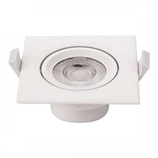 Plafonnier carré encastrable blanc LED 5W COB - éclairage 25W