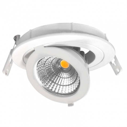 Spot LED Escargot Rond Orientable 12W équivalent 80W