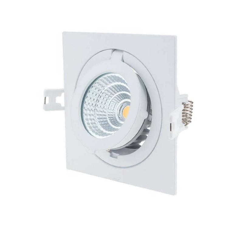 Spot LED Escargot Carré Orientable 12W équivalent 80W