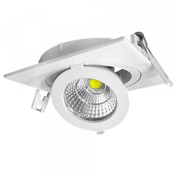 Spot LED Escargot Carré Orientable 12W équivalent 80W
