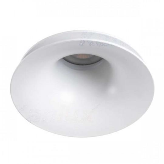 Support de spot encastrable perçage 92mm rond Blanc