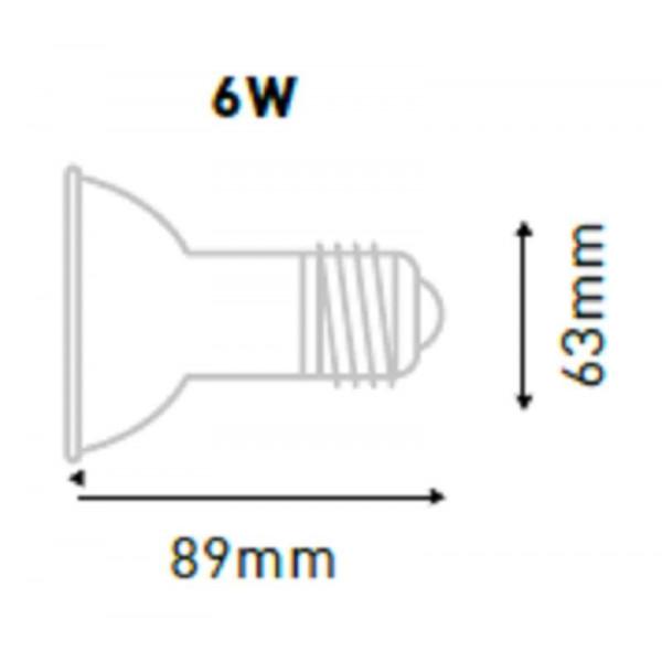 Ampoule LED PAR20 E27 6W équivalent 40W IP65