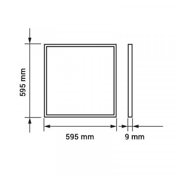 Dalle LED 29W 60x60cm 3600lm VTAC