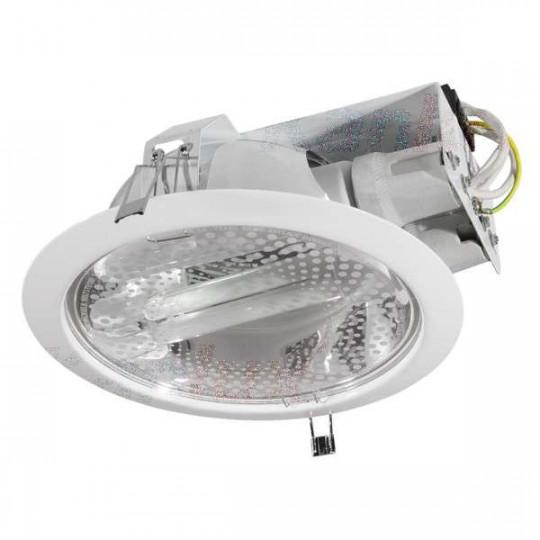 Luminaire à Culot 2 x E27 rond ∅228mm Blanc
