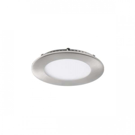 Downlight LED 6W étanche IP44 rond ∅120mm Nickel satiné - blanche, blanche 4000K