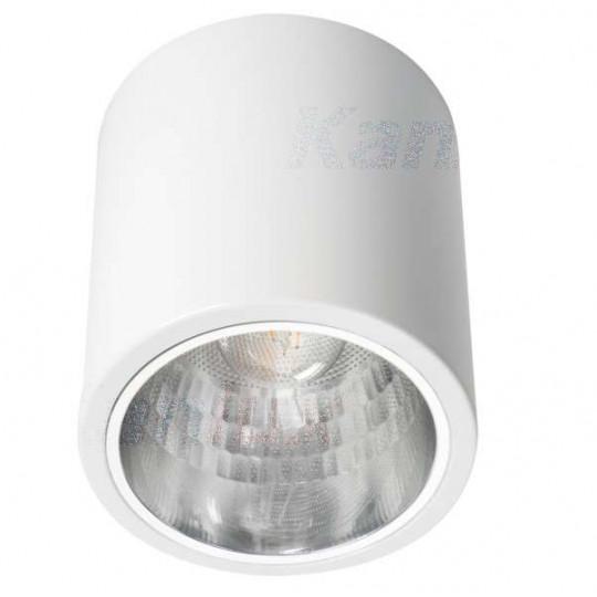 Luminaire à Culot 1 x E27 rond ∅133mm Blanc