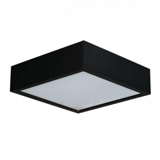 Plafonnier à Culot 2 x E27 carré Mat noir