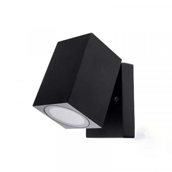 Applique carré 1xGU10 orientable noir IP44 étanche
