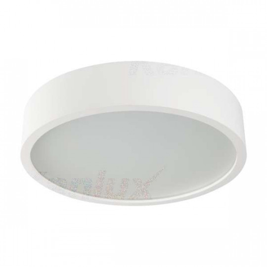 Plafonnier à Culot 2 x E27 rond ∅375mm Blanc mat