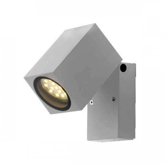 Applique carré 1xGU10 orientable grise IP44 étanche