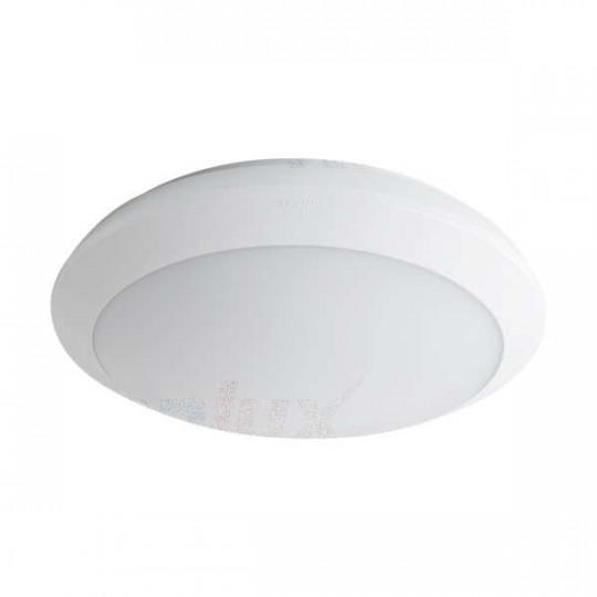 Plafonnier LED 22W à détecteur étanche IP66 rond ∅300mm Blanc - Blanc Naturel 4000K