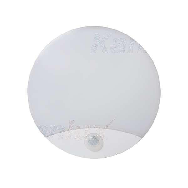 Plafonnier LED 15W à détecteur étanche IP44 rond ∅250mm Blanc - Blanc Naturel 4000K
