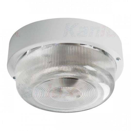Plafonnier à Culot 1 x E27 étanche IP44 rond ∅200mm Blanc