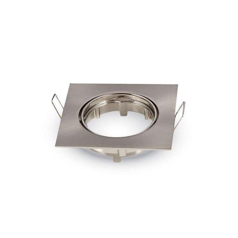 Support spot encastrable carré orientable Finition Inox
