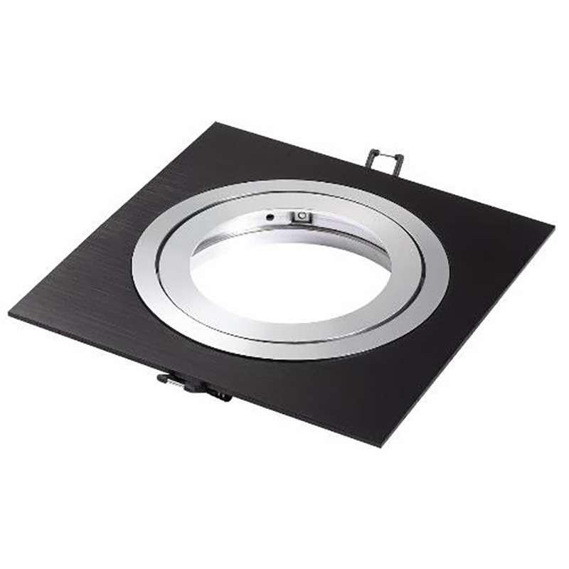 Support AR111 spot carré encastrable orientable