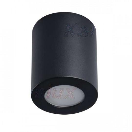 Plafonnier saillie rond pour 1 ampoule GU10 étanche IP44 Noir