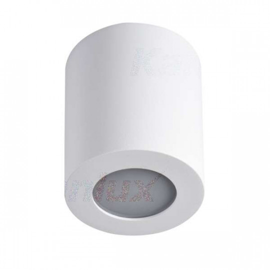 Plafonnier saillie rond pour 1 ampoule GU10 étanche IP44 Blanc