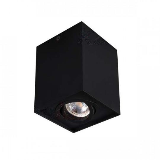 Plafonnier saillie carré pour 1 ampoule GU10 Mat noir
