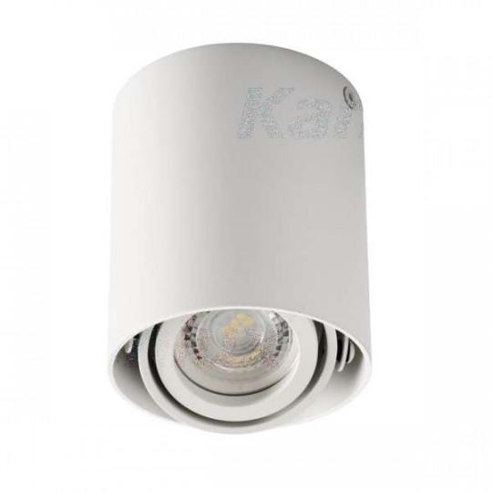Plafonnier saillie rond pour 1 ampoule GU10 Blanc mat