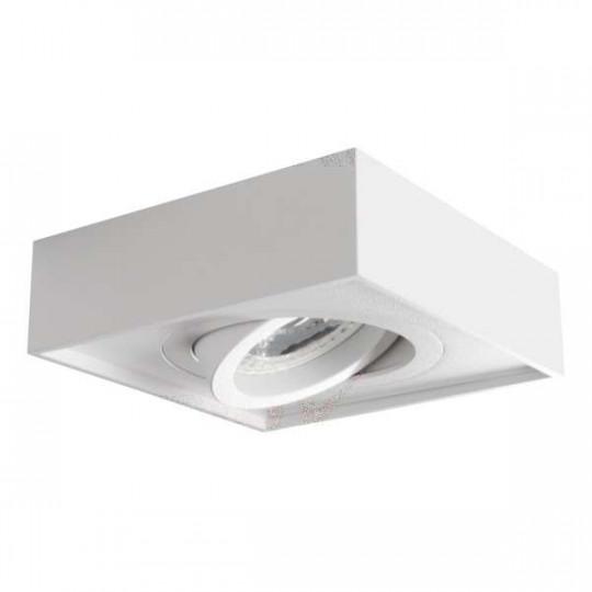 Support de spot encastrable perçage 85mm carré Blanc