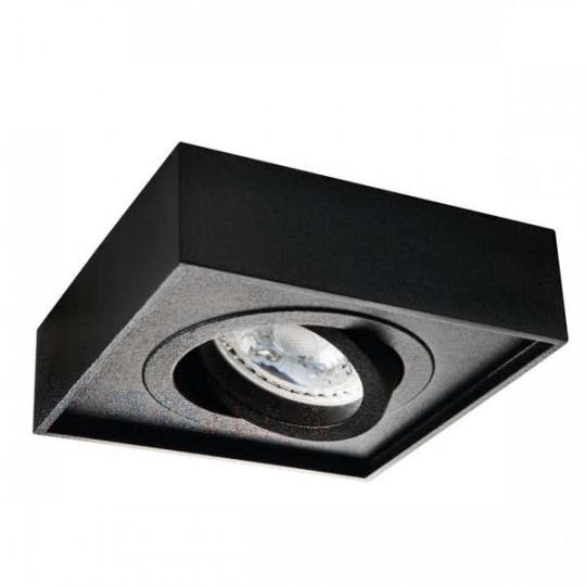 Support de spot encastrable perçage 85mm carré Noir
