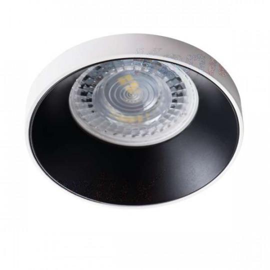 Support de spot encastrable perçage 68mm rond Blanc / noir