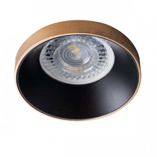 Support de spot encastrable perçage 68mm rond Or / noir