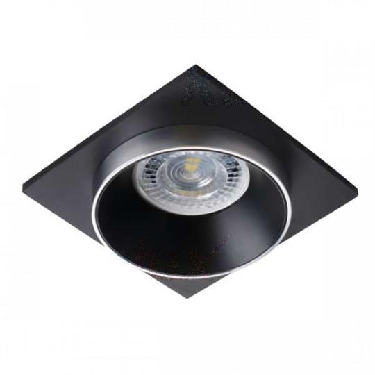 Support de spot encastrable perçage 68mm carré Argent / noir / noir