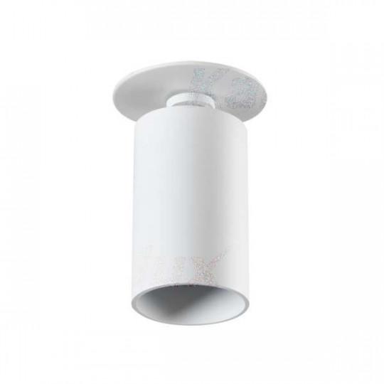 Support de spot orientable encastrable perçage 70mm Blanc