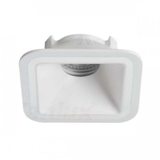 Support de spot encastrable perçage 90x90mm carré Blanc mat